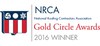 NRCA 2016 Gold Circle Award for Wedge Roofing