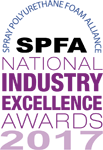 2017 Spray Foam National Industry Excellence Award for Wedge Roofing Marin County, San Francisco, Sonoma County