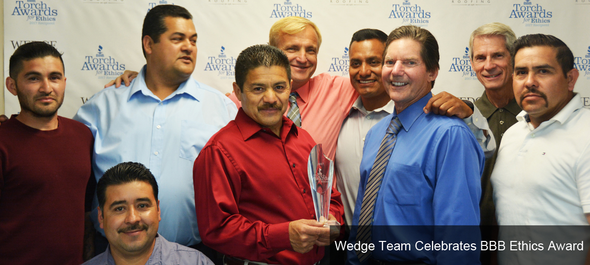 Wedge Team Celebrates BBB Ethics Award
