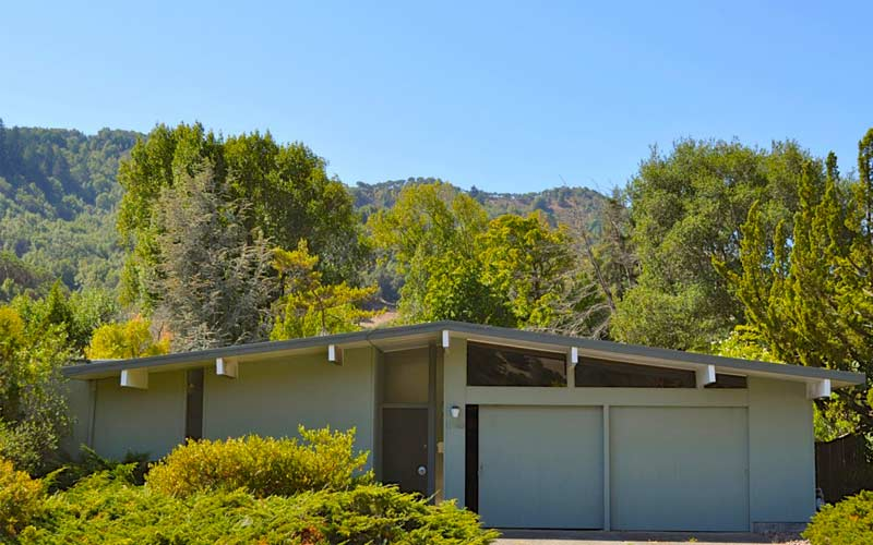 Flat roofing residential Eichler Marin County