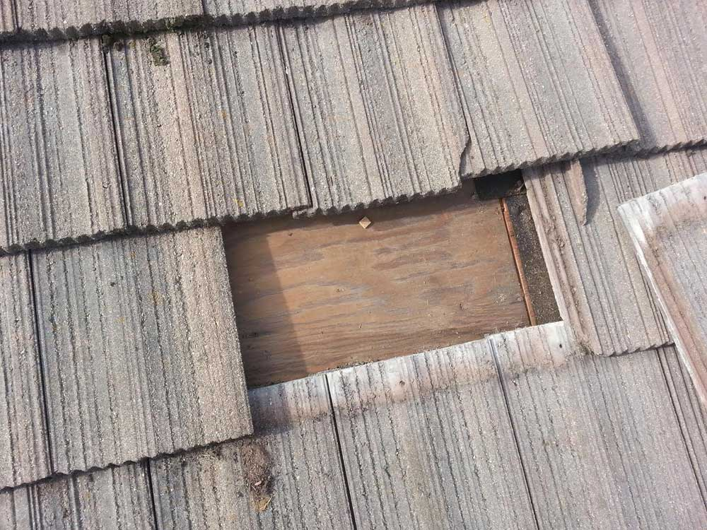 Roof repair to concrete tile roof in Sonoma County