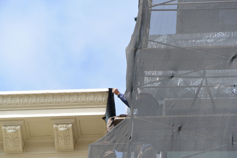 San Francisco roof restoration on historic building in Nob Hill