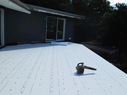 Flat re-roofing on residence in Sonoma County