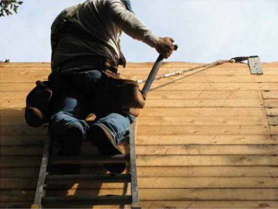 Roofer removing roof for Marin County residential re-roofing