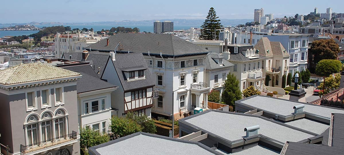 San Francisco Roofing Contractor Wedge Roofing - Pacific Heights built-up roof