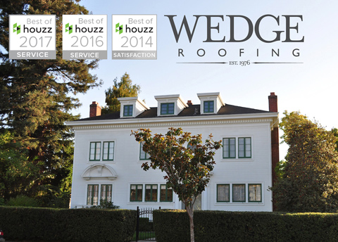 2017 Best of Houzz Award Wedge Roofing San Francisco