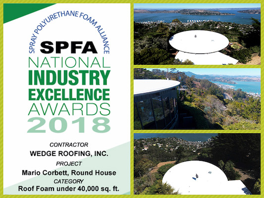 Marin County Best Roofing Award 2018