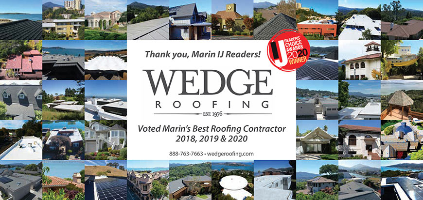 Marin County Best Roofing Company Award