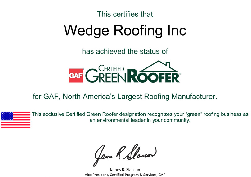 GAF Green Roofer