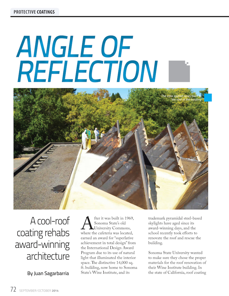 Spray Foam Magazine September 2014 Wedge Roofing