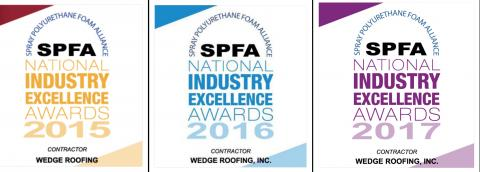 Spray Foam Roofing Awards Wedge Roofing