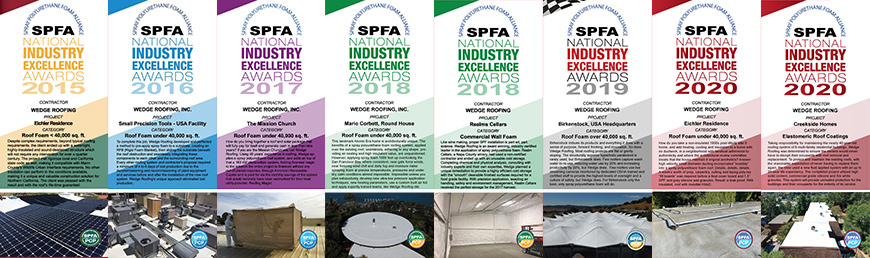 Spray Foam Roofing and Insulation Awards