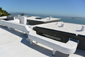 Tiburon Marin County Roofing Foam Roof