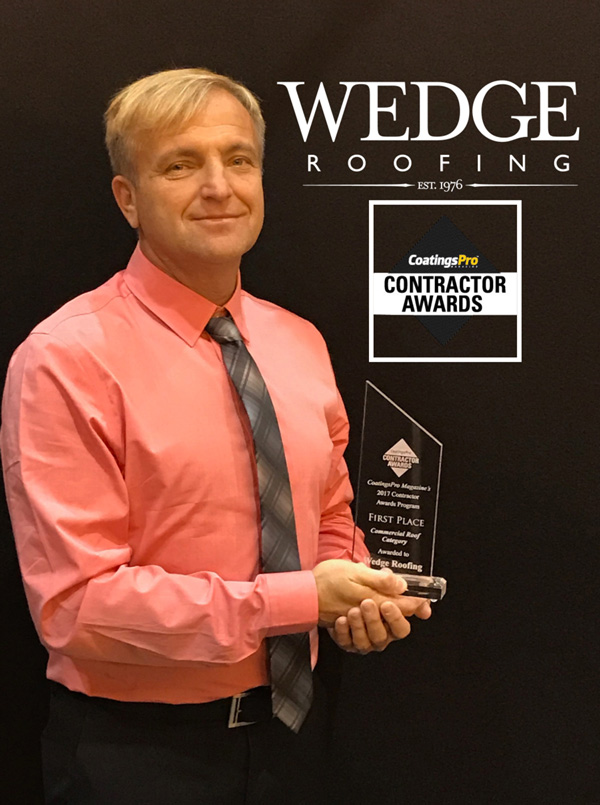 Wedge Roofing Receives CoatingsPro Award