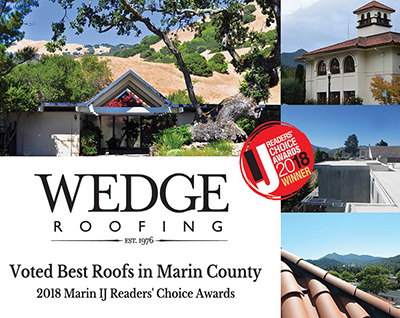 Best Roofs in Marin County Award