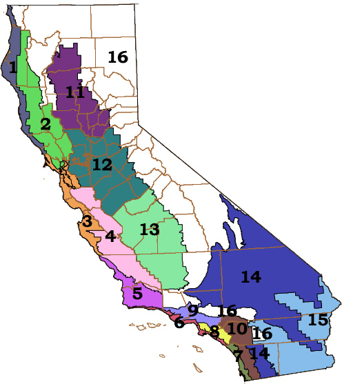 California Title 24 Climate Zones Map
