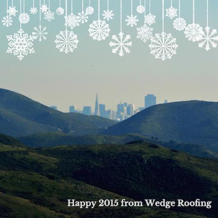 Bay Area New Year Wedge Roofing Marin County Roofing