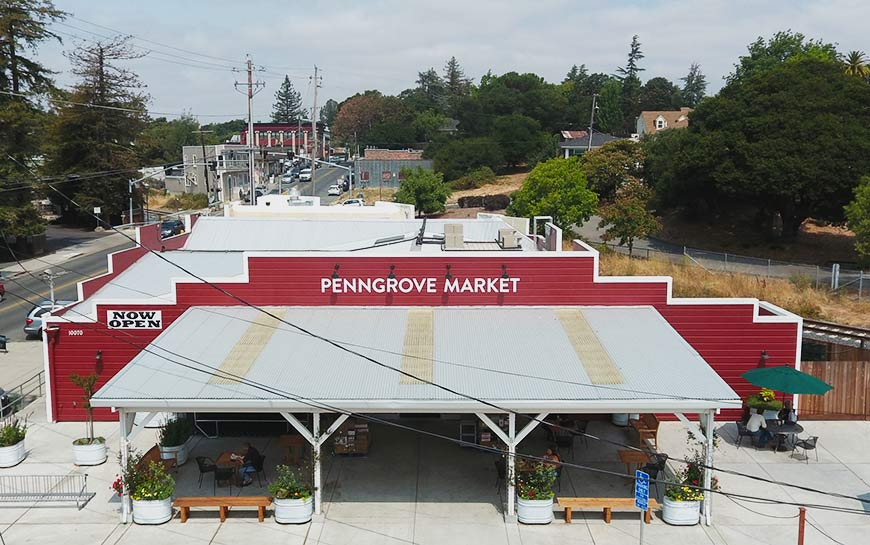 Foam Roof Installed on Penngrove Market in Sonoma County CA