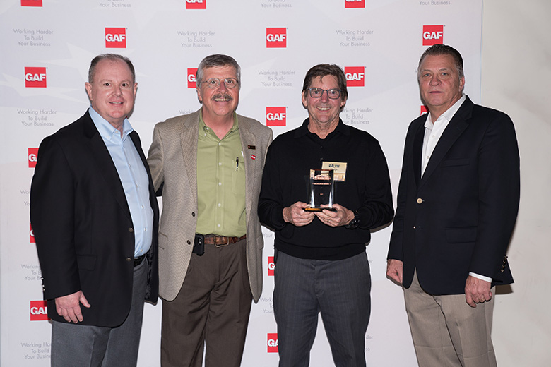 Wedge Roofing Receives GAF Excellence Award