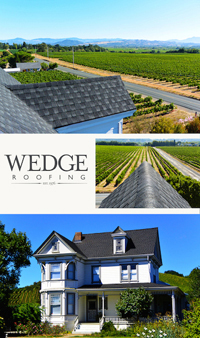 Sonoma County historic roof replacement of vineyard home in Healdsburg, CA