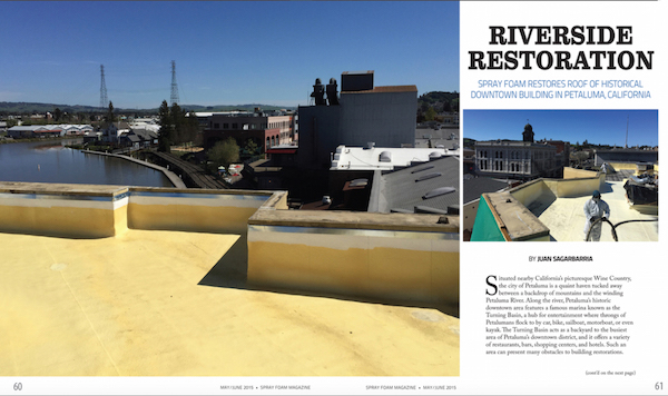 Sonoma County Commercial Roof Featured In Spray Foam Magazine