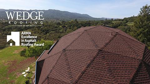 Award-Winning GAF Shingle Dome Installation