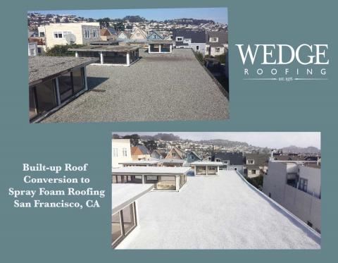 San Francisco Foam Roof Conversion from Built-up Roofing