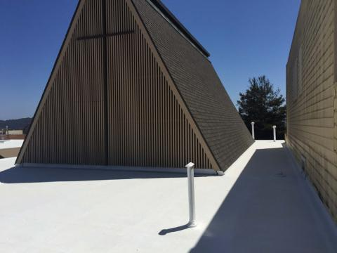 Silicone Roof Coating/San Francisco Church