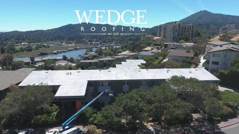 Foam Roofing & Cool Roof Coating/Marin County Condominiums/Greenbrae CA