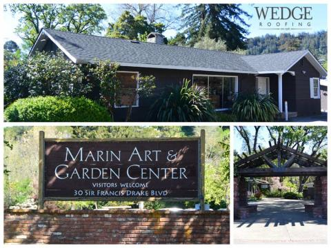 Marin Art & Garden Center GAF Natural Shadows Shingle Roof