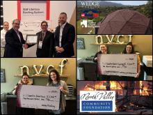 Roofing award wildfire donation