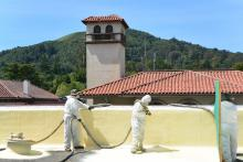 Wedge Roofing: San Anselmo Commercial Spray Foam Roofing.