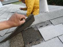 roofers repairing roof leak on Marin County roof
