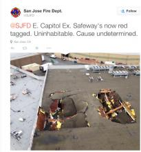 roof collapse bay area storm