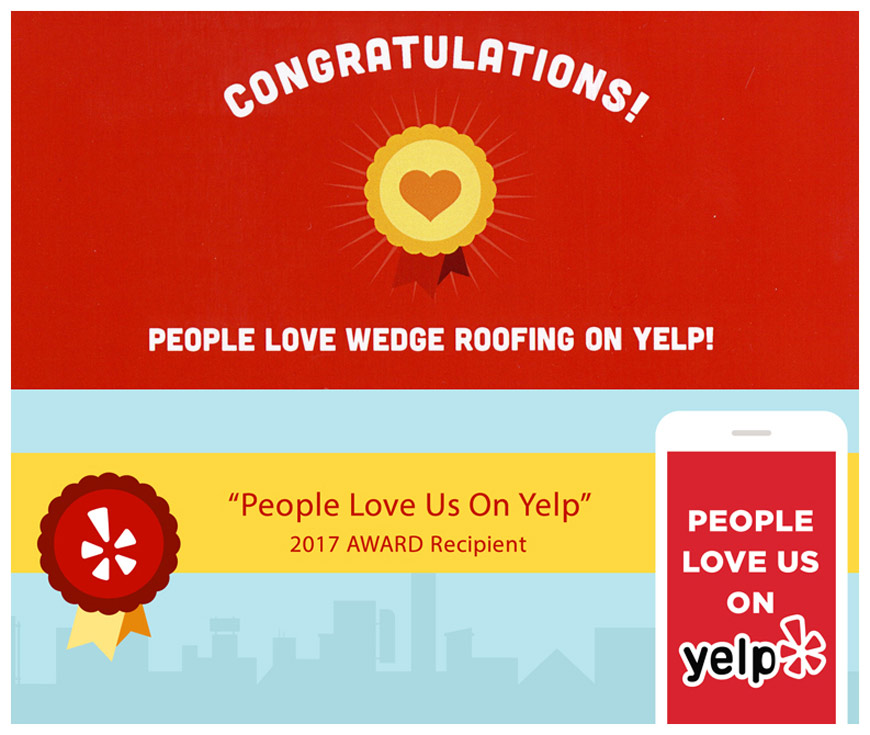 People love Wedge Roofing on Yelp
