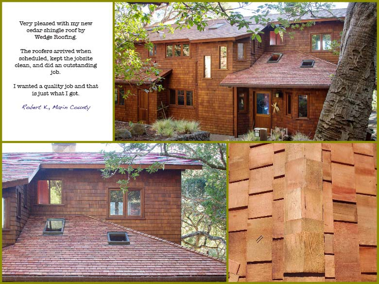 Marin County Wood Shingle Roof